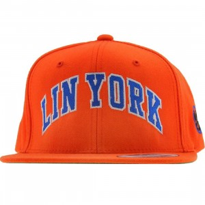 PYS Lin York Snapback Cap - LIN 17 Collection (orange / orange / blue / white)