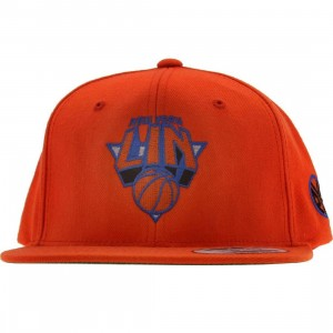 PYS New York Lin Snapback Cap -Jeremy basketball 17 Collection hat (orange / orange / orange / blue)