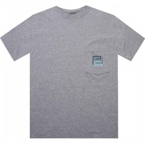 PYS.com Block Logo Pocket Tee (heather grey) - PYS.com Exclusive