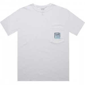 PYS.com Block Logo Pocket Tee (white) - PYS.com Exclusive