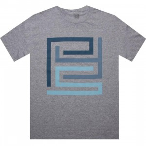 PYS.com Block Logo Tee (heather grey) - PYS.com Exclusive