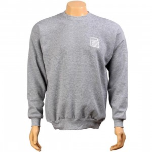 PYS Block Logo Crewneck - White (light steel)