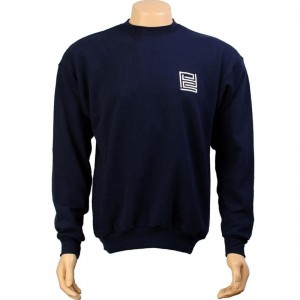 PYS Block Logo Crewneck - White (navy)