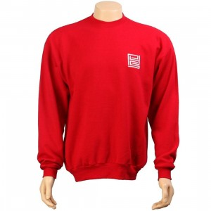 PYS Block Logo Crewneck - White (deep red)