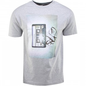 The Quiet Life Tape Tee (gray / heather gray)