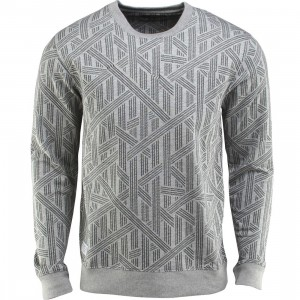 The Quiet Life Rope Crewneck (gray / heather gray)
