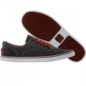 Radii Noble Low (charcoal / burgundy)