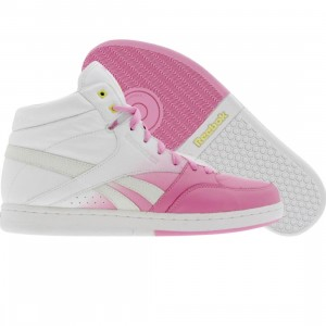 Reebok Womens Courtee Mid (pink / white / yellow / neon blue)