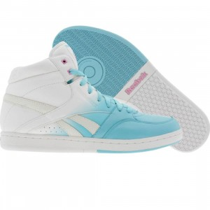 Reebok Womens Courtee Mid (neon blue / white / pink / yellow)