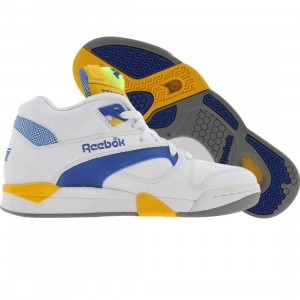 Reebok Court Victory Pump - UNI (white / ion blue / yellow jet)