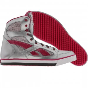 Reebok Big Kids Spartacular (silver / berry / shark / white)