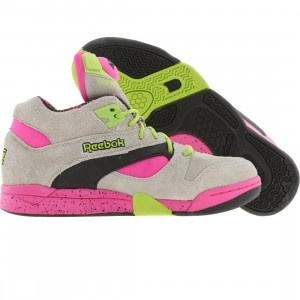 Reebok Court Victory Pump (sand grey / dark pink / candy green / black)