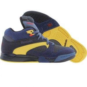 Reebok Court Victory Pump (navy / club blue / bandana blue / yellow)