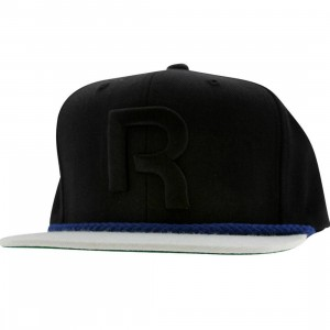 Reebok Brim String Snapback Cap (black / dark royal)