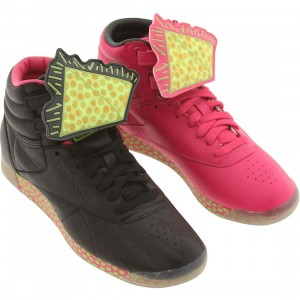Reebok Women Freestyle High INT R12 - Basquiat (black / pink / green / neon yellow)