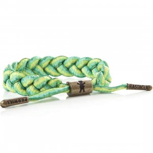 Rastaclat x Grizzly Indica Bracelet - Torey Pudwill (green / mustard)