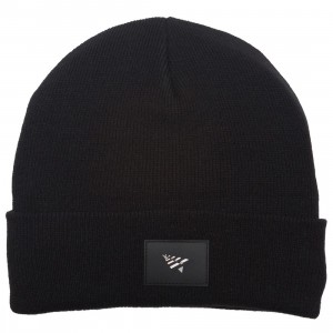 Paper Planes Patch Skully Beanie (black)
