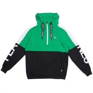Paper Planes Men Collide Half Zip Hoody (green / black)