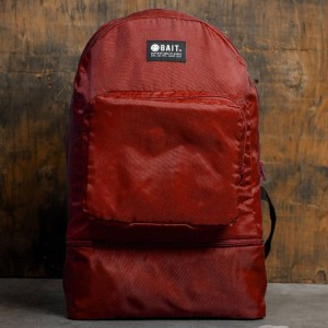 BAIT Lightweight Packable And Detachable Sneaker Nylon Backpack (red)