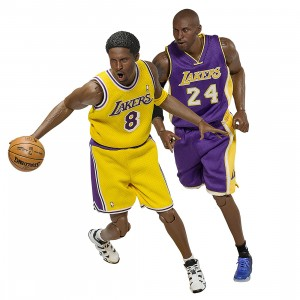 NBA x Enterbay Kobe Bryant 1/6 Scale 12 Inch Figure - Duo Pack New Upgraded Re-Edition (purple / gold)