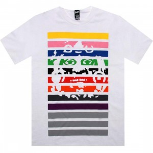 Raza Mask Stripe Tee (white)