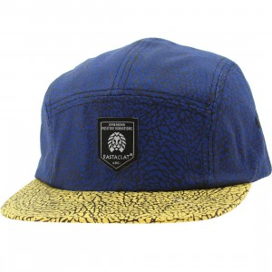 Rastaclat Asphalt 5 Panel Camper Adjustable Cap (royal / yellow)