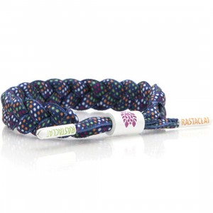 Rastaclat Star Night Shoelace Bracelet (navy / white)