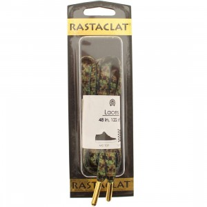 Rastaclat Forest Camo Oval Shoelace (green / black / brown)