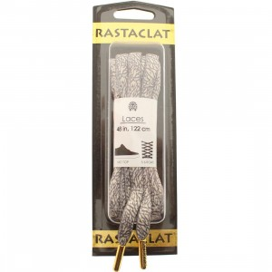 Rastaclat Elephant Oval Shoelace (light grey / dark grey)
