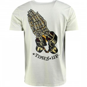 RVCA Times Up Tee (silver / bleach)