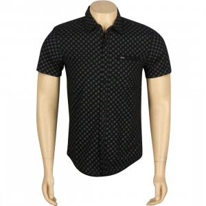 RVCA Drop Short Sleeve Shirt (black)