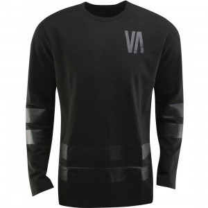 RVCA Slapshot Long Sleeve Tee (black)