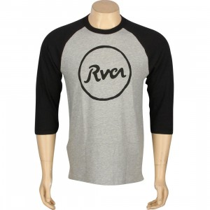 RVCA Circle Script Raglan Tee (black / heather)