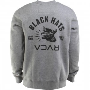 RVCA Black Hats Crewneck (gray / athletic heather)