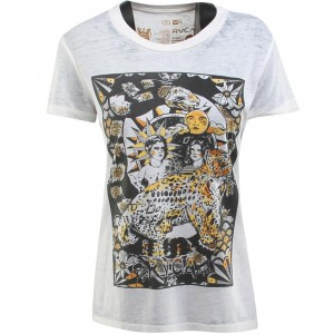 RVCA Women Cheetah Cover Tee (white / vintage white)
