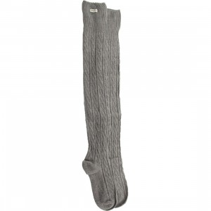 RVCA Women Moon Shadow Thigh High Socks (gray) 1S