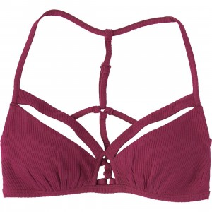 RVCA Women Basically So Bralette (red / rose)