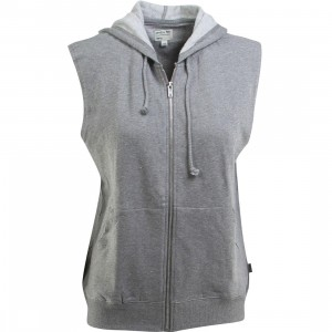 RVCA Women Label Mass Ruckus Fleece Vest (gray / gray noise)