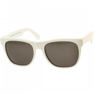 Super Sunglasses Basic Wayfarer (white)
