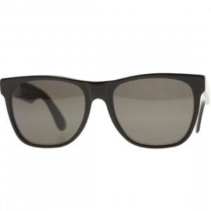 Super Sunglasses Basic Wayfarer Classic Sunglasses (black / black lense)