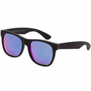 Super Sunglasses Basic Wayfarer Sunglasses (black / rainbow lense)