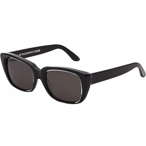 Super Sunglasses Lira Achromatic Sunglasses (black)