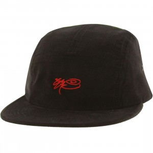 SSUR Signature 5 Panel Camp Adjustable Cap (black / red)