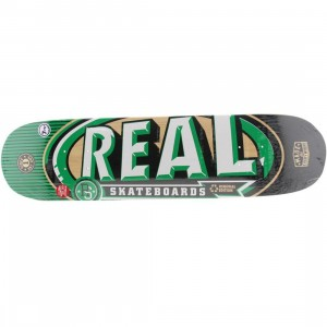 Real Skateboard MVP Medium 7.75 Deck (red / green)