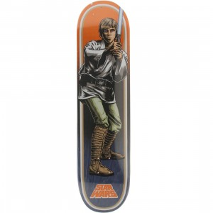 Star Wars x Santa Cruz Skate Luke Skywalker 31.7 In x 7.8 In Deck (orange / blue)