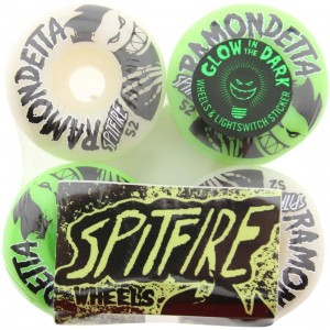Spitfire Ramondetta Wheels - Glow In The Dark (green / white)