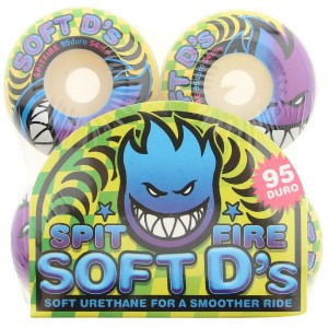 Spitfire Soft Ds 95 DU Wheels (white / blue / purple)