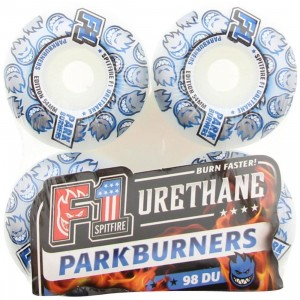 Spitfire F1 Urethane Parkburners 98DU Wheels (white / blue)