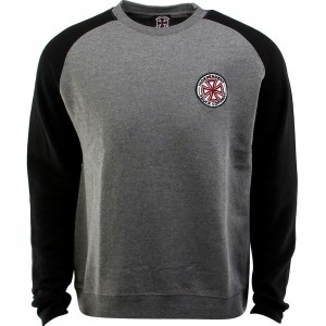 Independent RWC Patch Crewneck (gray / gunmetal heather / black)