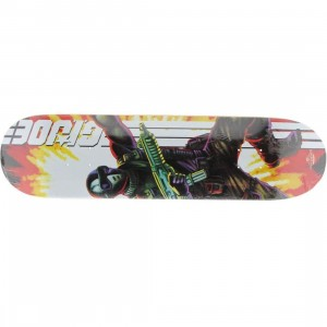 The Loyal Subjects Snake Eyes 8.0 Skate Deck (black / white / red)